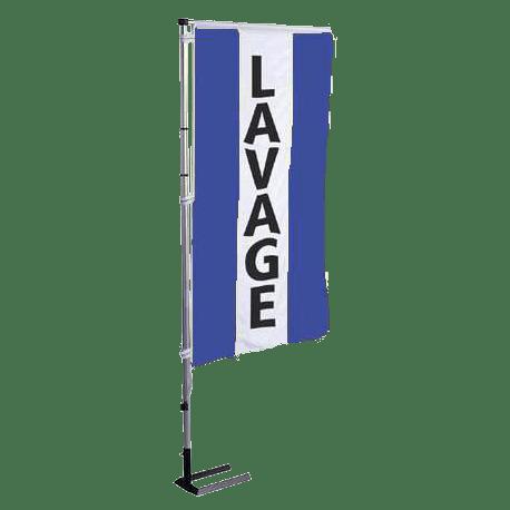 Pavillon vertical Lavage avec bandes - Bleu