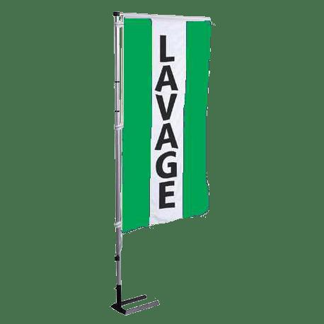 Pavillon vertical Lavage avec bandes - Vert