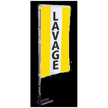 Pavillon vertical Lavage avec bandes - Jaune