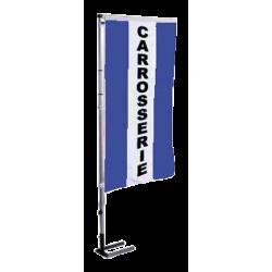 Pavillon vertical Carrosserie avec bandes - Bleu