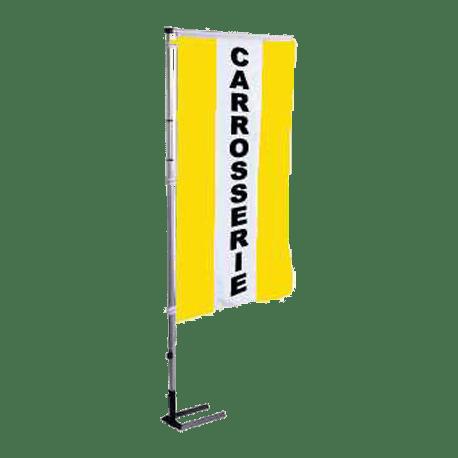 Pavillon vertical Carrosserie avec bandes - Jaune