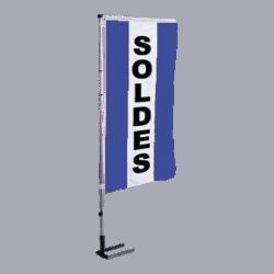 Pavillon vertical Soldes avec bandes - Bleu