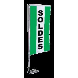 Pavillon vertical Soldes avec bandes - Vert