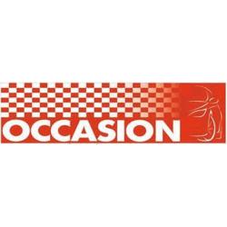 Banderole Occasion 80 x 300 cm en bâche PVC - Rouge