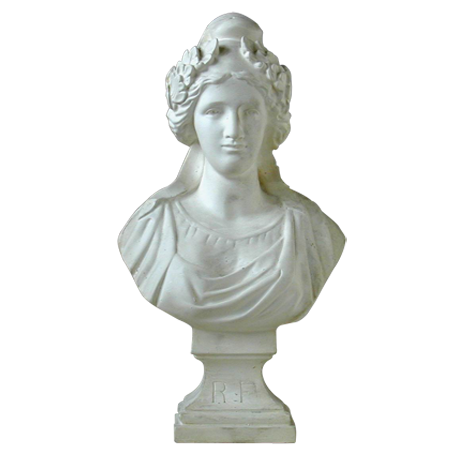 Buste de Marianne - Modèle VAUQUELIN en Ciment pierre