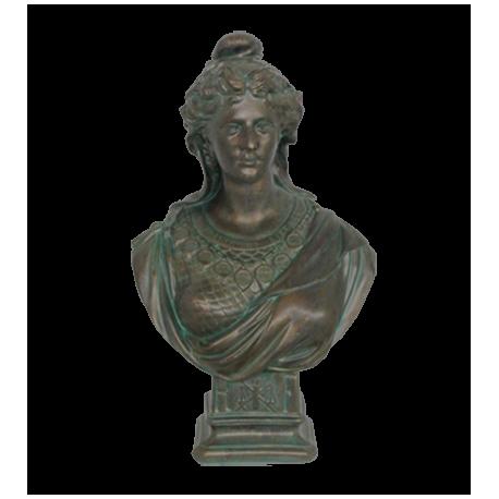 Buste de Marianne patine tradition bronze vert