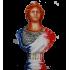 Buste de Marianne patine aérographe tricolore aspect porcelaine