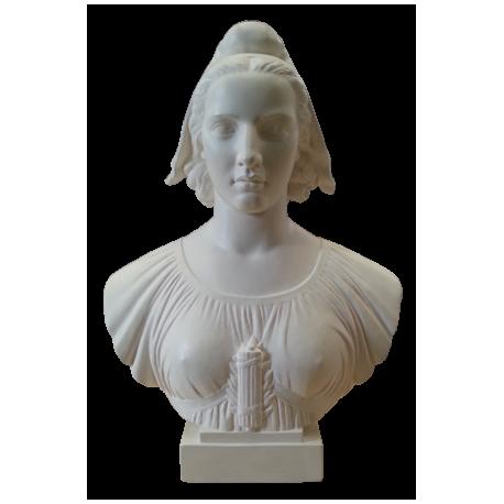 Buste de Marianne - Modèle POISSON 45 cm