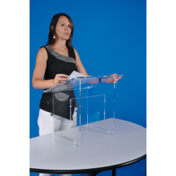 Pupitre de table en plexiglass