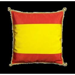 Coussin Espagne 30 x 30 cm avec cordelière or
