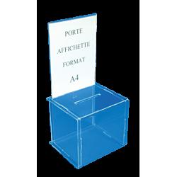 Urnes pour jeux concours aviso drapeaux - Boite rangement plexi transparent ...