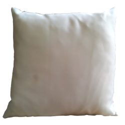 Coussin 30 x 30 cm en Satin Blanc