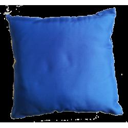 Coussin 40 x 40 cm en Satin Bleu
