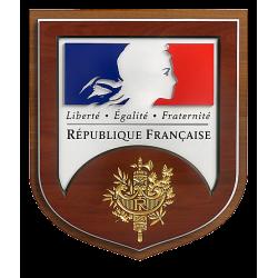 Ecusson porte-drapeaux République Française - modèle Prestige