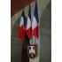 Blason porte-drapeaux République Française - modèle Protocole