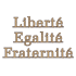Lettres de façade en bronze - Liberté Egalité Fraternité