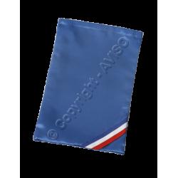 Housse en satin bleu pour écharpes