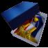 Boîte en carton bleu