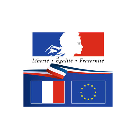 Plaque en plexiglas Liberté Egalité Fraternité - Horizontale