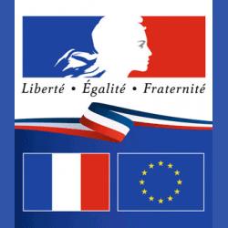 Plaque en plexiglas Liberté Egalité Fraternité - Verticale
