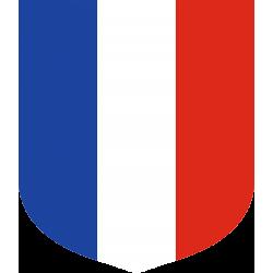 Ecusson porte-drapeaux Tricolore