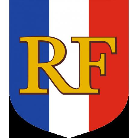 Ecusson porte-drapeaux Tricolore RF