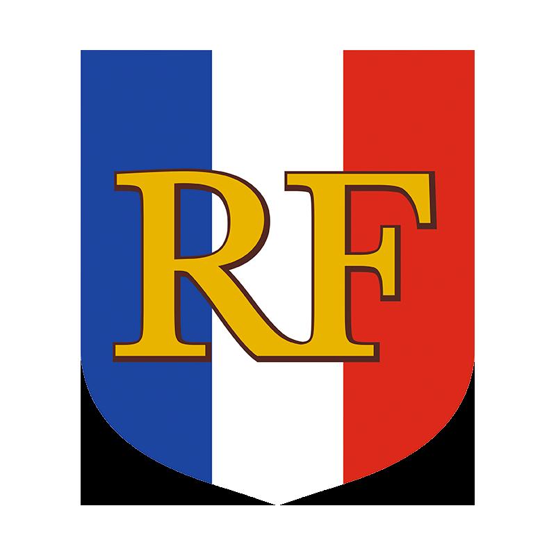 Ecusson porte drapeaux premium tricolore rf for Porte drapeaux