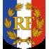 Ecusson porte-drapeaux Tricolore RF + Palmes