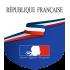 Ecusson porte-drapeaux République Française