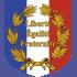 Ecusson porte-drapeaux Liberté Egalité Fraternité