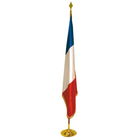 Drapeau de prestige en satin France