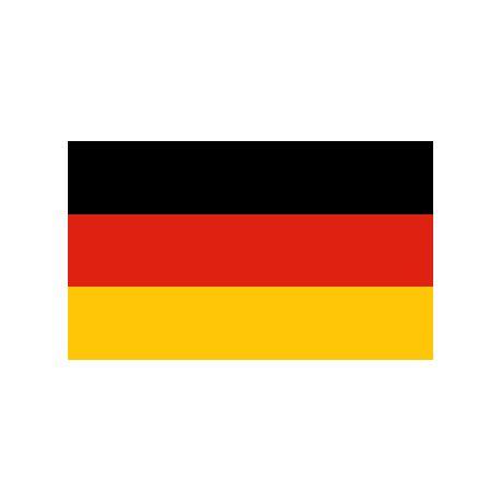 Lot de 100 drapeaux de table Allemagne en plastique