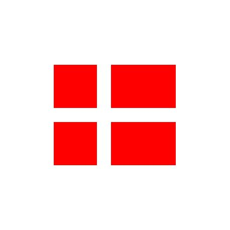 Lot de 100 drapeaux de table Danemark en plastique