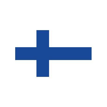 Lot de 100 drapeaux de table Finlande en plastique