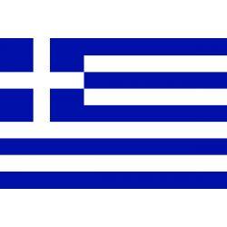 Lot de 100 drapeaux de table Grèce en plastique