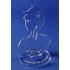 Buste de bureau en Plexiglas cristal