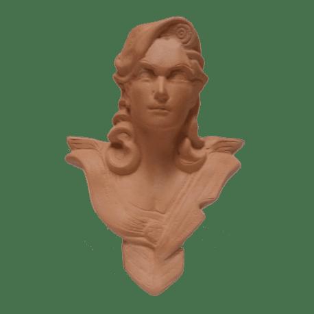 Buste de bureau - Modèle CHAVANON 18 cm - Terre cuite