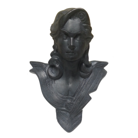 Buste de bureau - Modèle CHAVANON 18 cm - Noir ébène