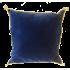 Coussin Velours Bleu avec cordelière or
