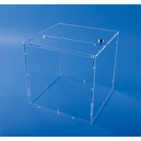 Boîte urne transparente