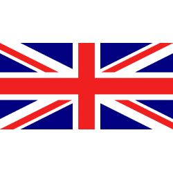 Lot de 100 drapeaux de table Royaume-Uni en plastique