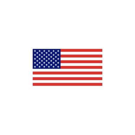 Lot de 100 drapeaux de table U.S.A. en plastique