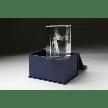 Buste de Marianne dans bloc en verre optique DELACROIX