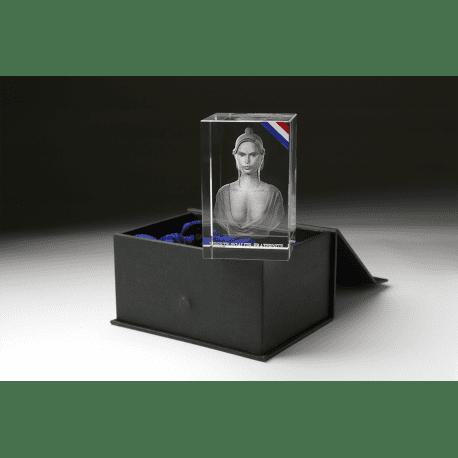Buste de Marianne dans bloc en verre optique CASTA