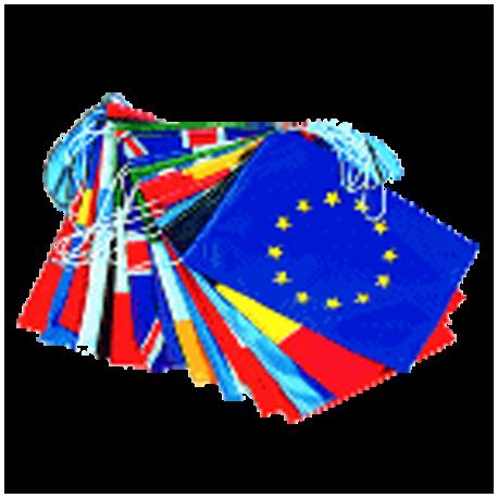 Guirlande pavillons pays membres de l'U.E. 10 m - PLASTIQUE