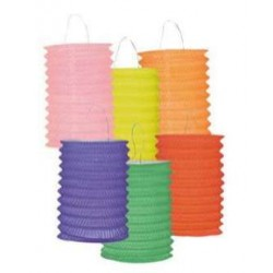 Lampion cylindre uni - LOT de 12