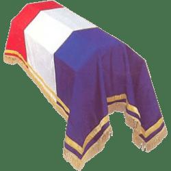Drap mortuaire Tricolore Prestige