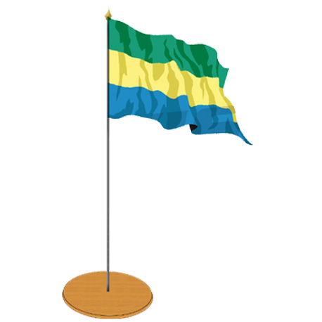 Drapeau de table Gabon 10 x 15 cm