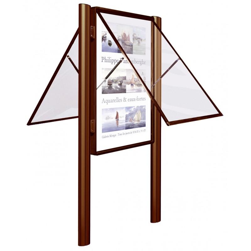 vitrine 2000 paisseur 75 mm porte levante simple ou double face. Black Bedroom Furniture Sets. Home Design Ideas