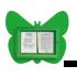 Vitrine Papillon 2 feuilles A4 - vert